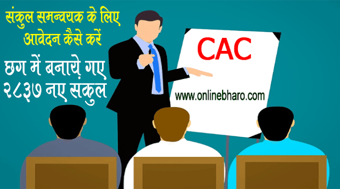 संकुल समन्वयक के लिए आवेदन कैसे करें -पूरी जानकारी  . Sankul Samanvayak (CAC) Recruitment 2021- How To Apply