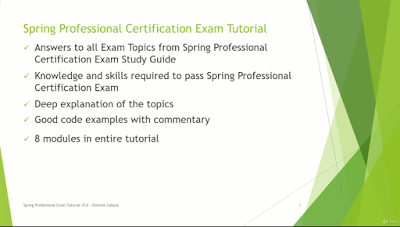 best online course to pass spring professional certification