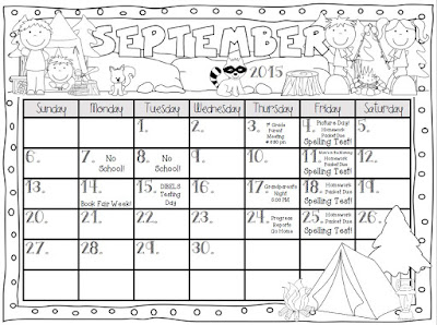 Teaching With Terhune: Editable Monthly Calendars