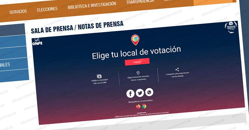 ONPE: Electores podrán escoger dónde votar en Elecciones Presidenciales de 2021 [VIDEO] www.onpe.gob.pe