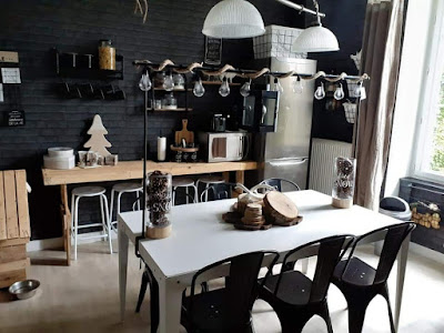 اللون الأسود للمطابخ العصرية
