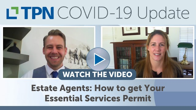 Estate Agents: How to get your Essential Services Permit!