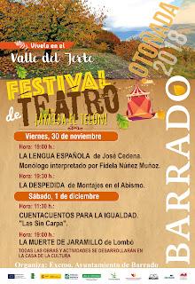 Festival de Teatro (30 noviembre y 1 de diciembre 2018) Barrado