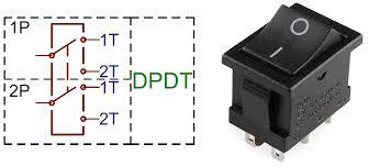 DPDT Double Pole Double Through Switch