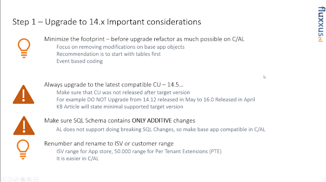 Upgrade Considerations - Summary