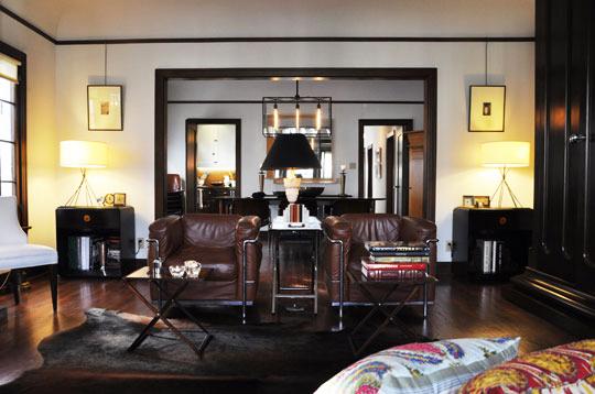 décoration salon style americain