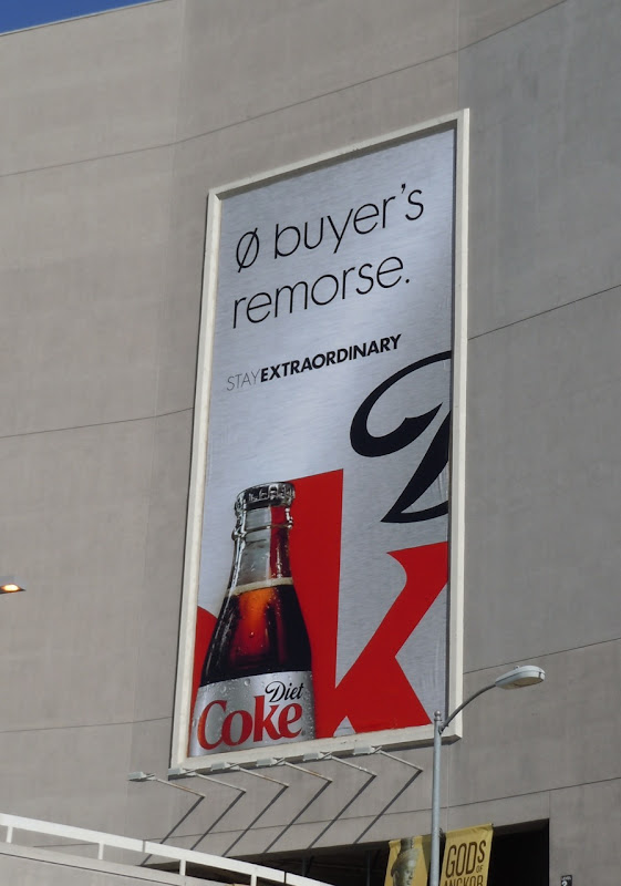 Diet Coke buyer remorse billboard