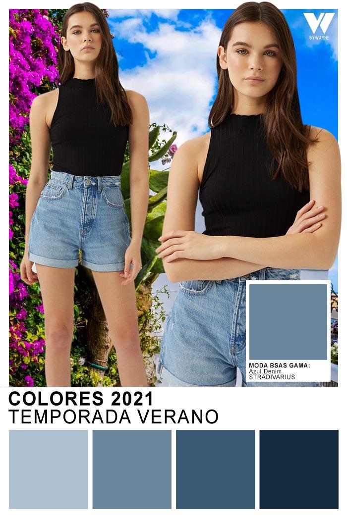 Colores 2021 Ropa de mujer colores de moda Azul Denim