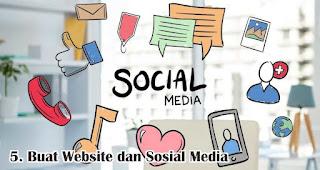 Buat Website dan Sosial Media merupakan salah satu tips untuk membangun bisnis online