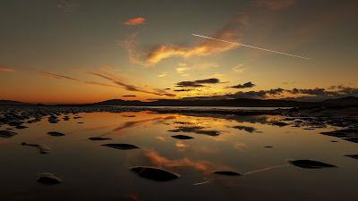HD Wallpaper Lake, Sunset, Dusk, Water, Reflection
