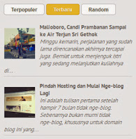 recent post degan thumbnail menbuat di blogger