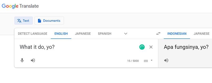 What It Do Hasil Terjemahan Google Translate