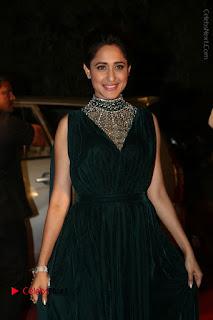 Actress Pragya Jaiswal Stills in Green Long Dress at Gemini TV Puraskaralu 2016 Event  0015.JPG