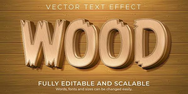 Wood Text Effect Adobe Illustrator