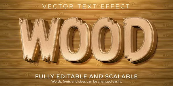 Wood Text Effect Adobe Illustrator