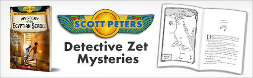 Scott Peters books, middle grade mystery, Kids ancient Egypt, kids mystery books, mystery of the Egyptian scroll