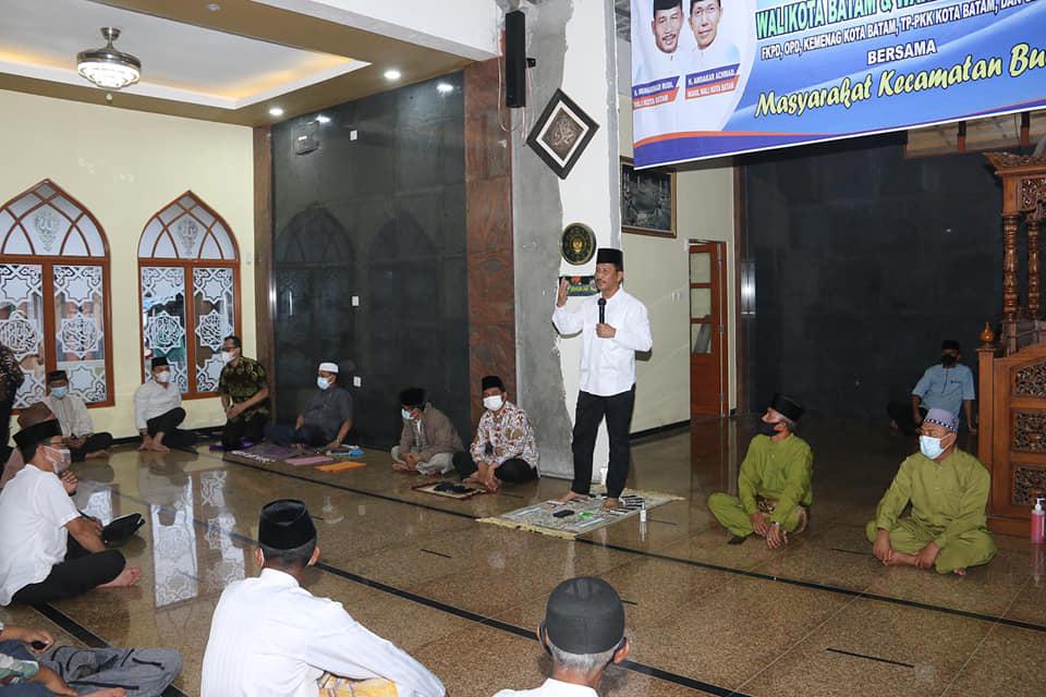 Di Kecamatan Bulang Empat Masjid Mendapat Bantuan Dari Pemko Batam