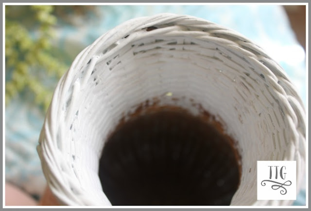 remember to paint down inside a vase like item so you don't see natural wicker.