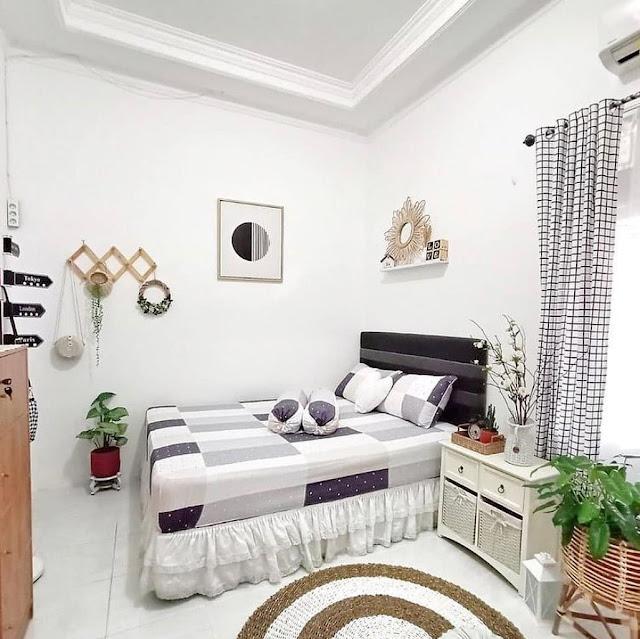 Desain Kamar Tidur Minimalis Ukuran 3×3 Warna Putih Terbaru