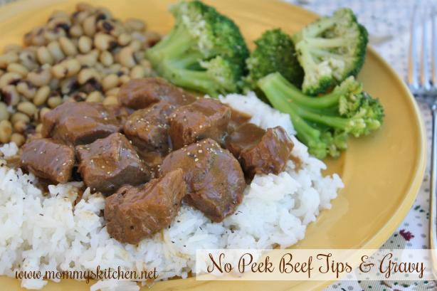 No Peek Beef Tips & Gravy