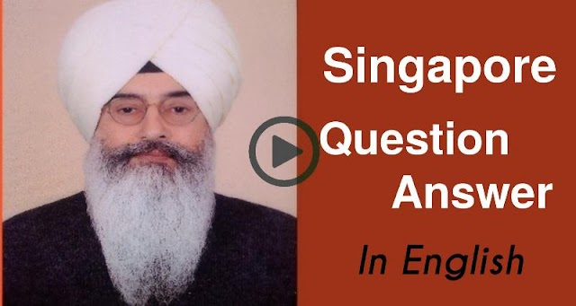 Singapore Question Answer with Babaji In English। Radha Soami Sakhi