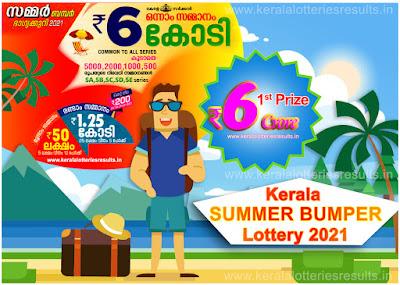 Kerala SUMMER Bumper BR-78 Kerala Next Lottery Result 21-03-2021