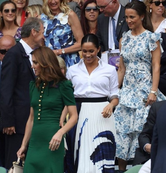 the duchess of cambridge the duchess of sussex attended the wimbledon final sussex attended the wimbledon final