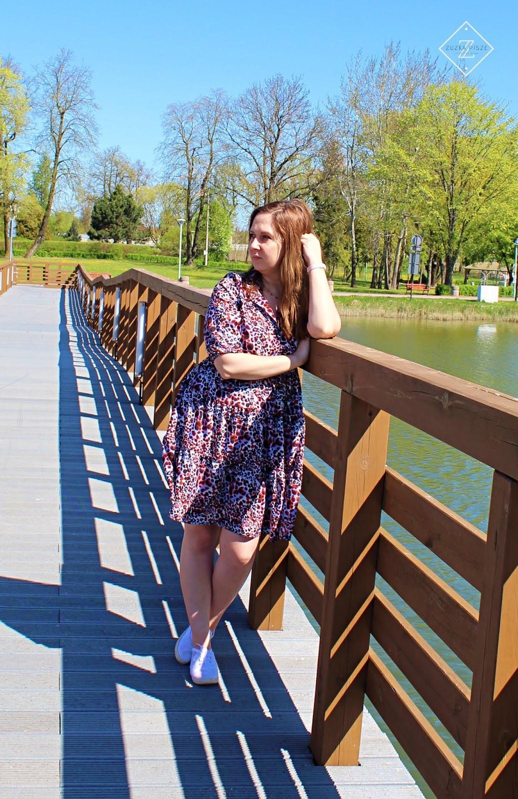Powiew wiosny - sukienka rozkloszowana ALEKSANDRA - Grandio.pl