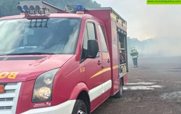Extinguido un incendio en la La Laguna de Barlovento