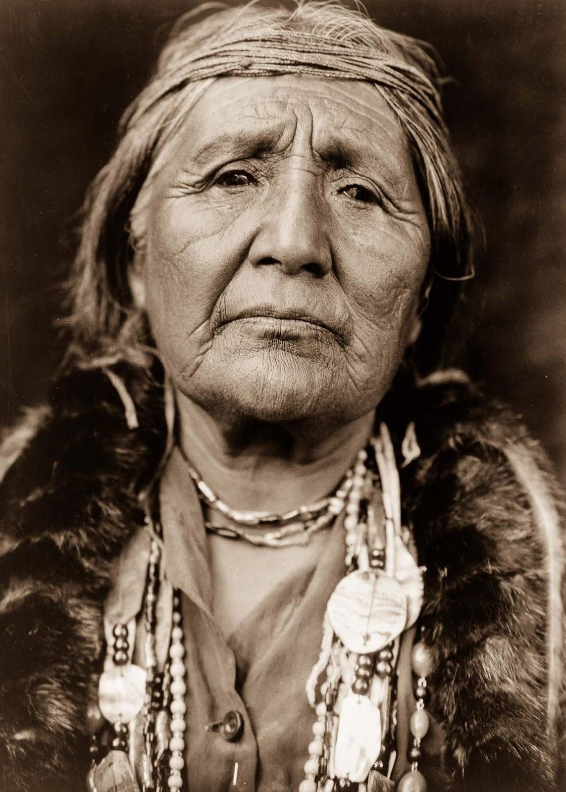A Hupa woman. 1923.