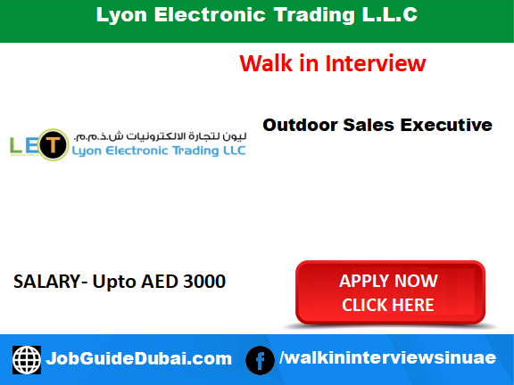 Job at Dubai for Outdoor Sales Executive