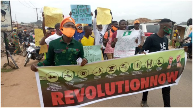#RevolutionNow protesters storm streets of major cities in Nigeria