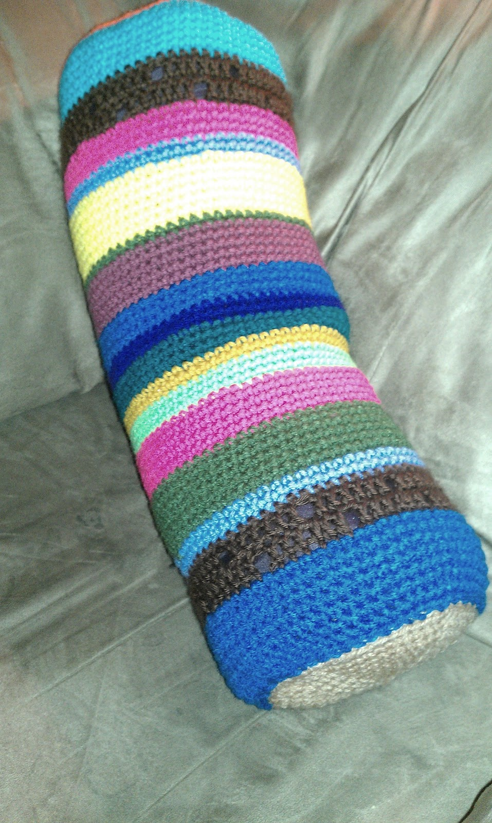 Colorful Crochet Neck Pillow Pattern Pictures - Easy Scarf Knitting ...