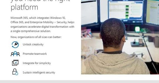 Microsoft 365 Windows 10 Flyer