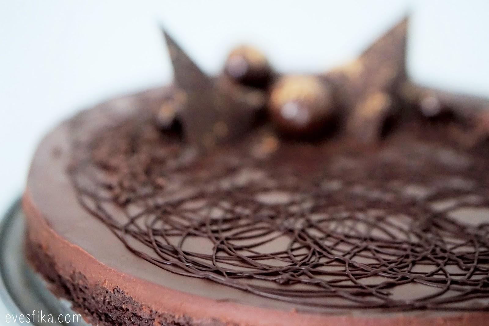 Eve S Fika Chocolate Tart With Cardamom And Baileys Cream Truffle