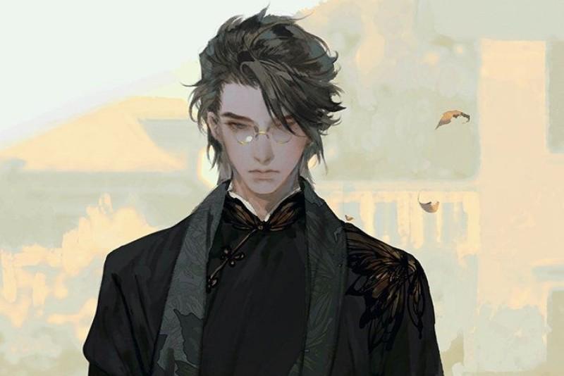 Anime male medium length cool hairstyle