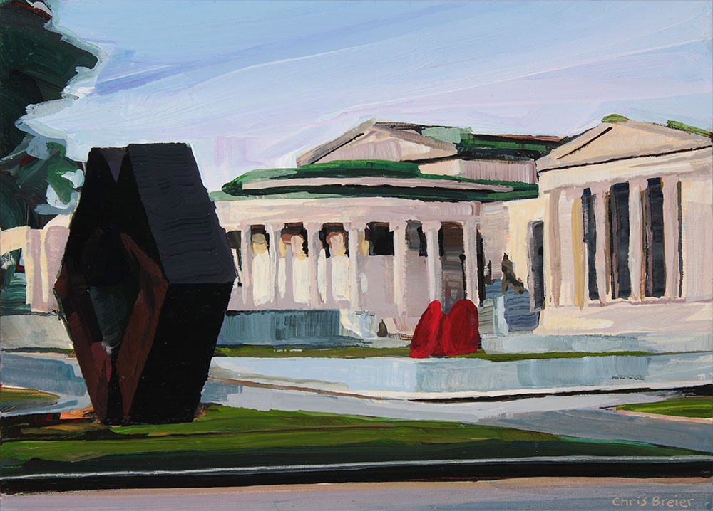 Acrylic painting of the Albright Knox Art Gallery in Buffalo, NY