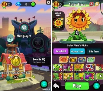 Screenshot Plants vs Zombie Heroes