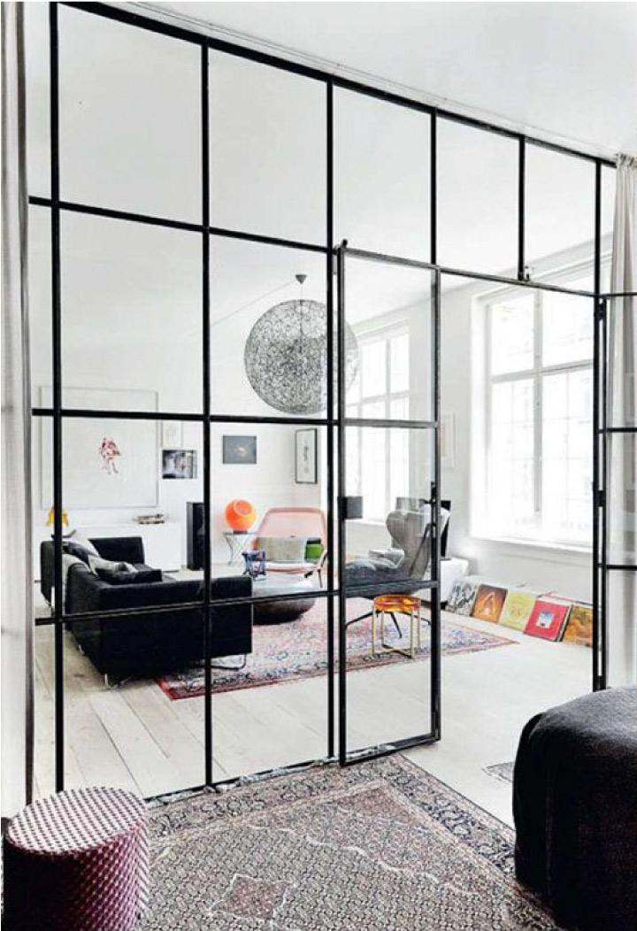Pareti di vetro e metallo per dividere gli ambienti  Blog di arredamento e interni - Dettagli ...