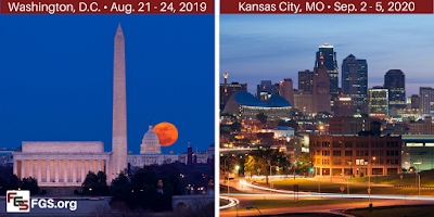 Upcoming FGS Genealogy Conferences To Be Held in Washington, DC and Kansas City, MO via FGS.org