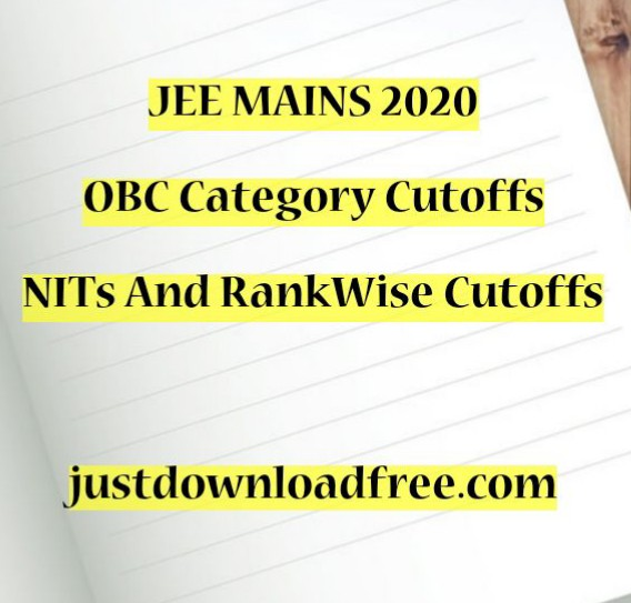 NIT OBC CUTOFF 2020 FOR  BTECH COMPUTERS