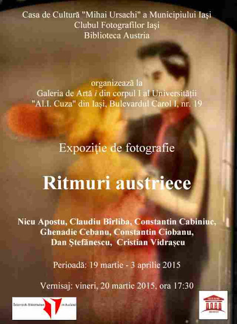 Afişul expoziţiei - Ritmuri austriece - blog FOTO-IDEEA