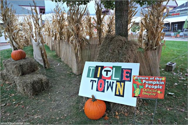 Title Town en el Return of the Pumpkin People de Jackson en New Hampshire