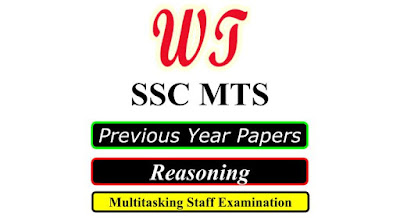 SSC MTS Previous Years Reasoning Questions PDF Free Download