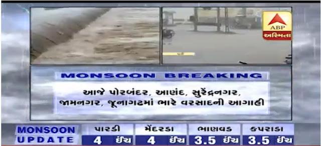 વરસાદ ની આગાહી ગુજરાત