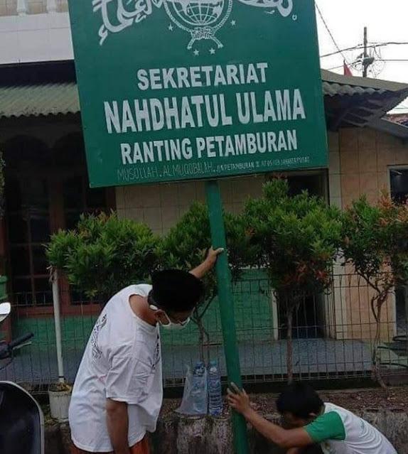 Ramai Plang 'Nahdhatul Ulama Ranting Petamburan', FPI Ikut Senang