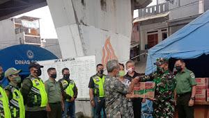 Koramil 02 Sawah Besar Jakarta Salurkan Bantuan Korban Kebakaran