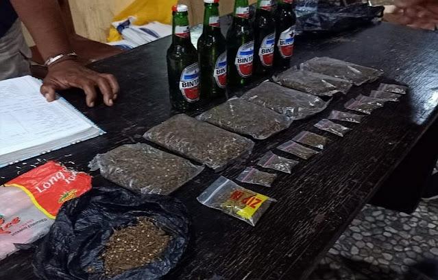 Aparat Amankan 4  Orang Terkait  Ganja di Komplek RSUD Dok II Jayapura
