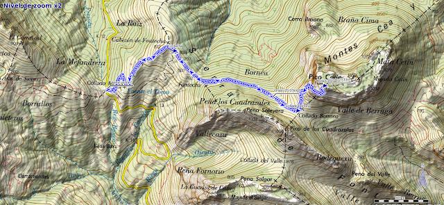 Mapa ruta Mota Cetín