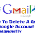 How To Delete Gmail Account Permanently 2016